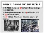 bank closings and the people