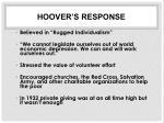 hoover s response1