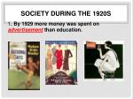 society during the 1920s