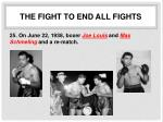 the fight to end all fights