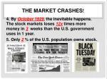 the m arket crashes