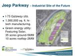 jeep parkway industrial site of the future