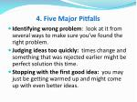 4 five major pitfalls