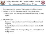 deployment and the use of mental health services among u s army wives