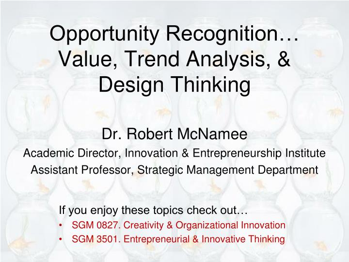 opportunity recognition value trend analysis design thinking n.