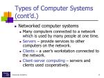 types of computer systems cont d1