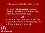 is this presentation for you