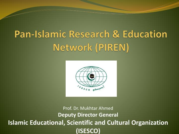 pan islamic research education network piren n.
