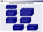 primary costing system features