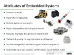 attributes of embedded systems
