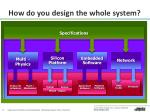 how do you design the whole system