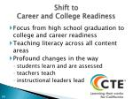 shift to career and college readiness