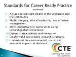 standards for career ready practice continued