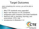 target outcomes