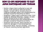 how co ops responded to east japan earthquake and tsunami