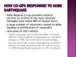 how co ops responded to kobe earthquake1