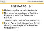 nsf pappg 13 11