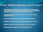 what define abstract and product