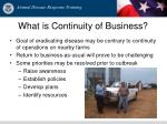 what is continuity of business