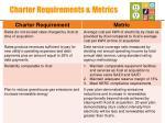 charter requirements metrics