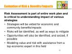 evaluation of risk benefits impacts