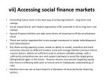 vii accessing social finance markets