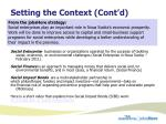 setting the context cont d1