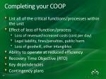 completing your coop