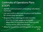 continuity of operations plans coop1