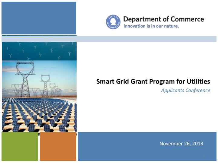 smart grid grant program for utilities applicants conference n.