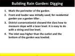 building rain garden digging