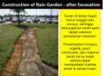 construction of rain garden after excavation