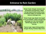 entrance to rain garden