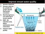 improve stream water quality