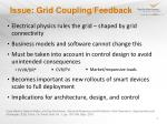 issue grid coupling feedback