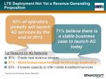 lte deployment not yet a revenue generating proposition