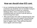 how we should view ecs cont
