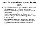 ideas for improving customer service cont