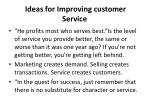 ideas for improving customer service