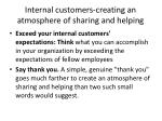 internal customers creating an atmosphere of sharing and helping1