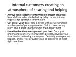 internal customers creating an atmosphere of sharing and helping2