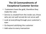 the 10 commandments of exceptional customer service