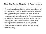 the six basic needs of customers