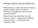 turning customer service inside out