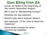 dues billing from iea