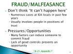 fraud malfeasance