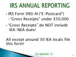 irs annual reporting