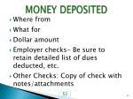 money deposited