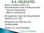 r a delegates