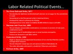 labor related political events